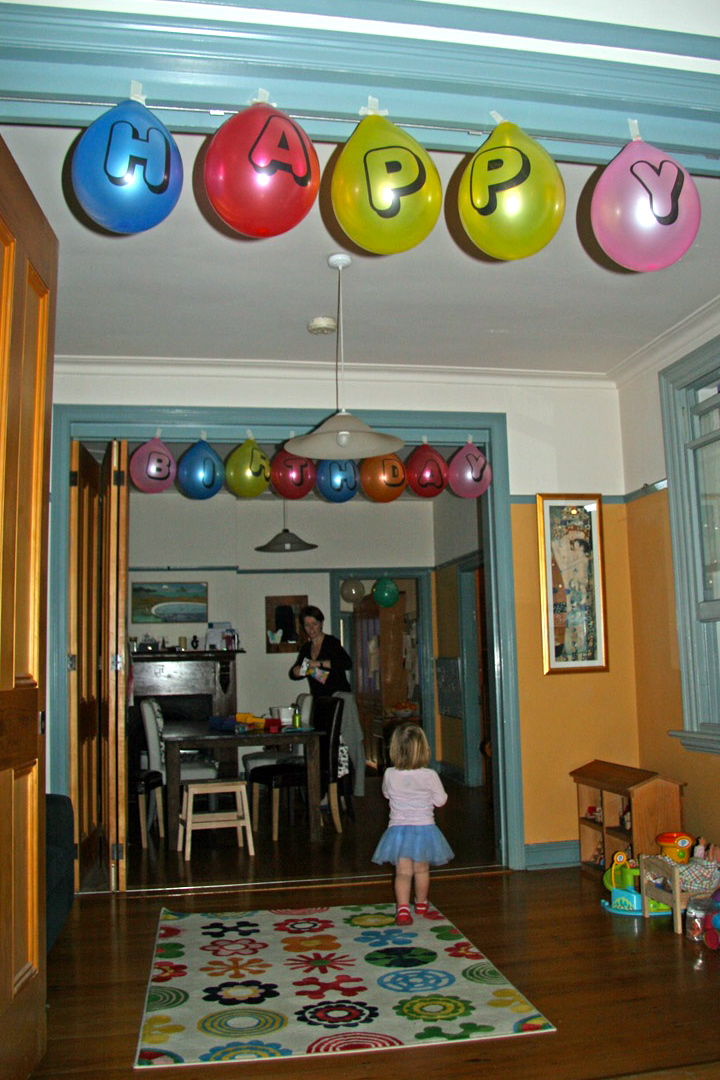 A birthday party for a five year old with no lollies or junk food,