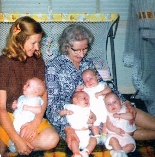 Mum and nan with 4