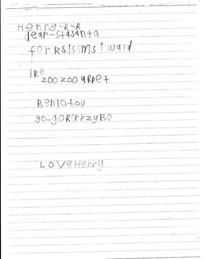 Henry Santa Letter